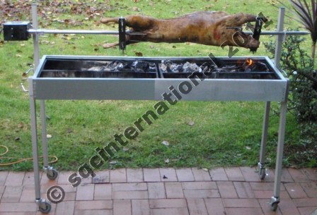 Extendable spit rotisserie for Bbq spit motors electric